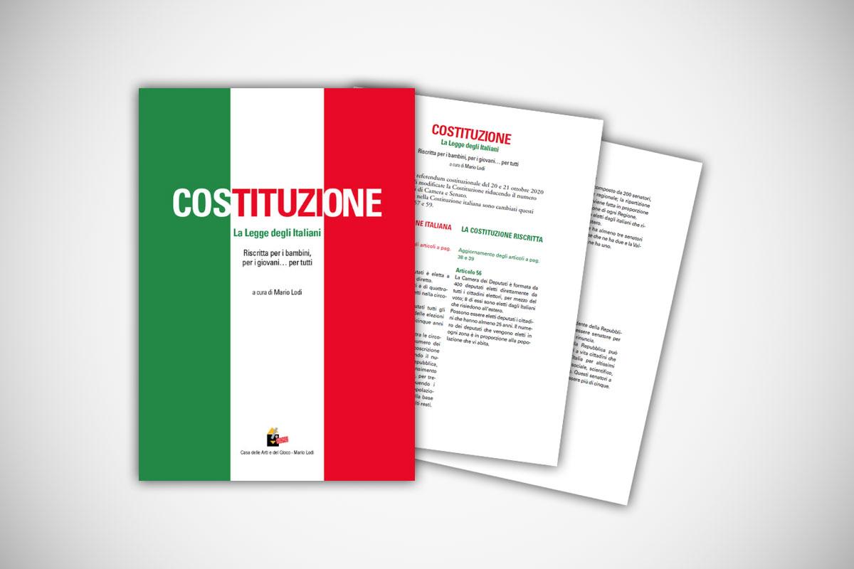 """Aggiornamento 2020 libro:  """"Costituzione La legge degli italiani Riscritta per i bambini… per tutti"""""""