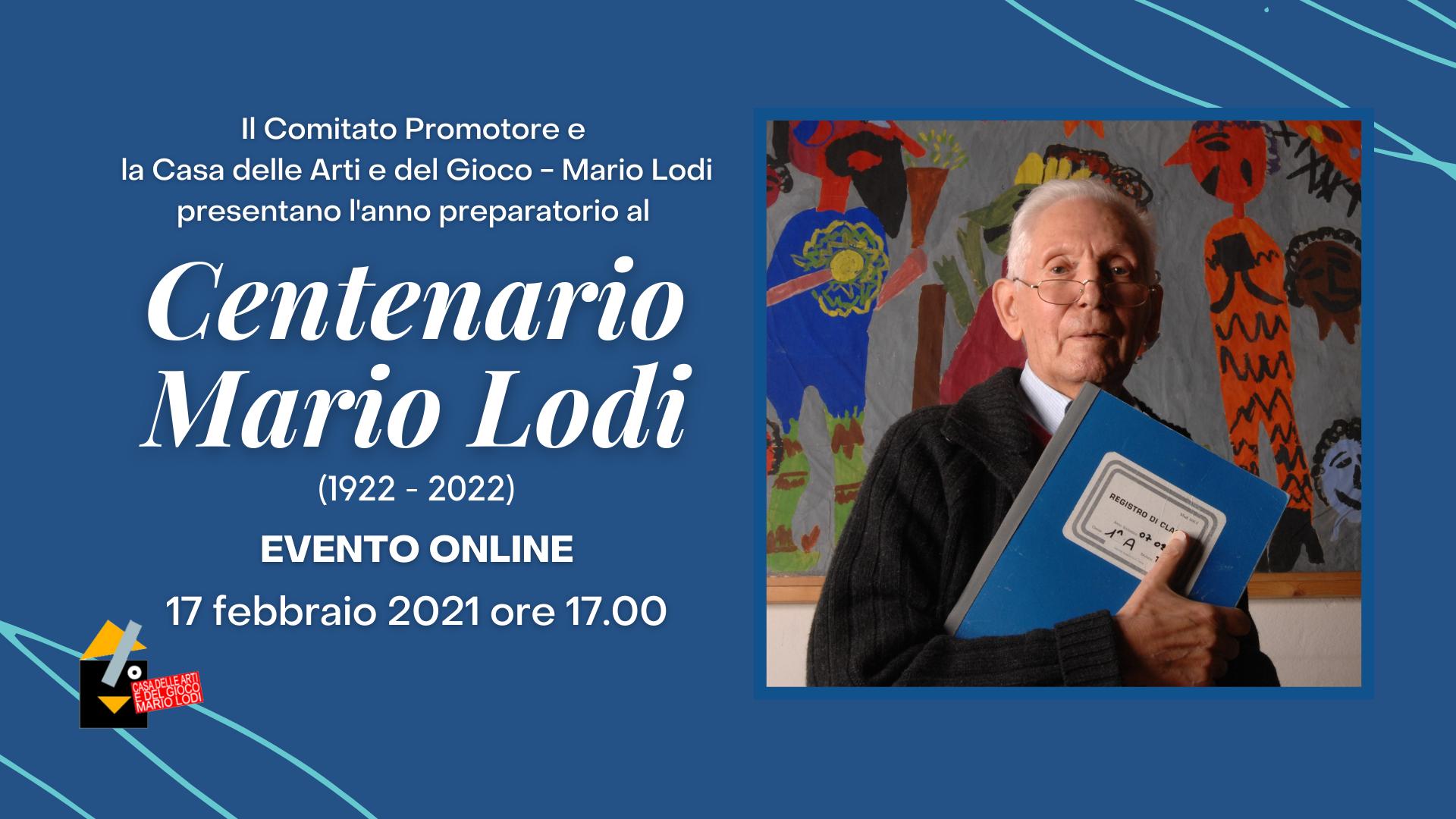 Centenario Mario Lodi (1922-2022): EVENTO DI AVVIO DELL'ANNO PREPARATORIO